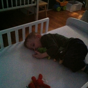 Adjusting to His Toddler Bed