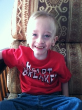 James has been happier than ever these last few weeks. He laughs and smiles all day. Such a joy!