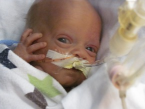 A Peek Into the NICU, Touch-Time forJames